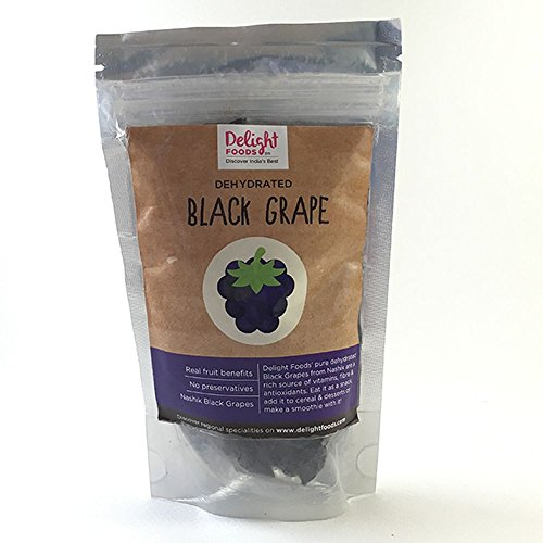 Delight Foods Dehydrated Black Grapes (100 Gm)