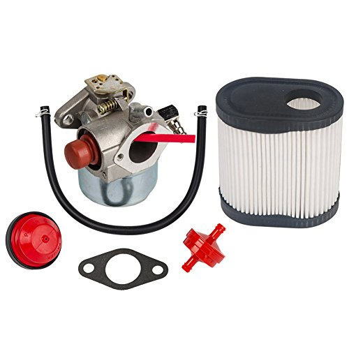 OuyFilters Carburetor Carb for Tecumseh TORO Recycler Lawnmowers 20016 20017 20018 6.75 HP Engines with Air Filter for Tecumseh 36905 740083A LEV100 LEV115 -