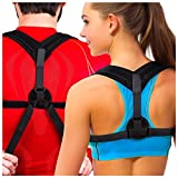 Premium Adjustable Upper Back Brace Posture Corrector and Clavicle Support Brace for Men