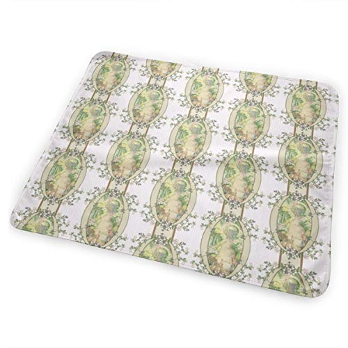 Beatrix Potter Flower Garden Blackberry Vine Oval Frame Coordinates Available Bed Pad Washable Waterproof Urine Pads for Baby Toddler Children and Adults 31.5 X 25.5 inch - Vine Oval
