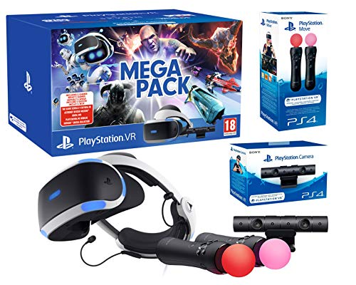 PlayStation VR2 [Méga Pack]: Skyrim + Doom + WipEout + Astro Bot + VR Worlds + Paire Twin Move Controllers