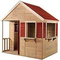 Casa de verano para niños casa de madera de jardín | Tipo abierto tipo casa de juegos de tamaño L