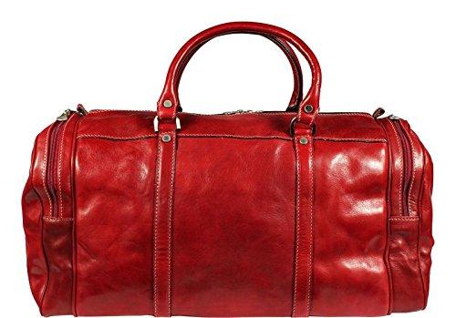 Schöne praktische leder Saba Rossa in der Hand Rot