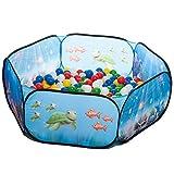 pop up Unterwasserwelt Babypool Bällebad + 200 bunte Bälle in 10 Farben