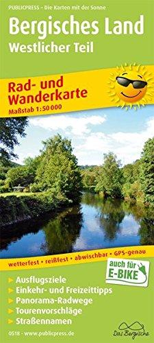 Bergisches Land, Westlicher Teil: Rad- und Wanderkarte mit Ausflugszielen, Einkehr- & Freizeittipps, wetterfest, reissfest, abwischbar, GPS-genau. 1:50000 (Rad- und Wanderkarte / RuWK)