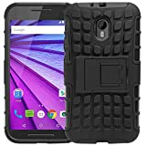MACC Defender Series Dual Layer Hybrid TPU + PC Kickstand Case Cover for Motorola Moto G (3rd gen) / G3 Moto G 3rd Generation/Moto G Turbo - Black