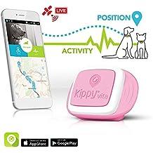 Kippy Vita, Rastreador de GPS y monitor de actividad para mascotas, Localizador GPS para perros y gatos, Rosa (Rosa Angel)