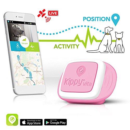 KIPPY Vita - Rastreador GPS de mascotas para perros y gatos, Rosa (Rosa Angel), talla única