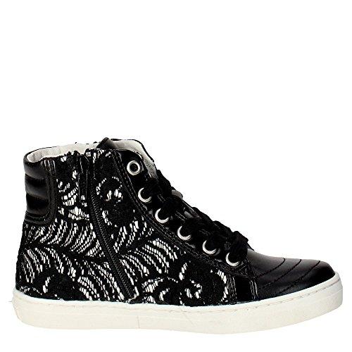 CULT - Baskets noires à lacets, en cuir et dentelle, glissière latérale,fille,filles,femme,femmes,enfant Noir