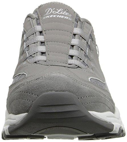 Skechers Sport D'lites Slip-on Mule Sneaker Gray/White