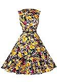 OMZIN Womens Sleeveless Vintage Cocktail Gowns Vestido de Fiesta Vestido de Fiesta Amarillo XXL