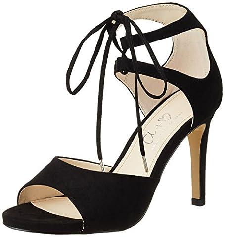 Another Pair of Shoes Damen SiennaE1 Offene Sandalen mit Keilabsatz, Schwarz (Black01), 39 EU