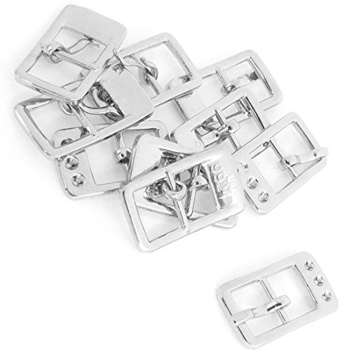 5 Metal Skin Pair Shoes Adornment Needle Buckles Silver Tone