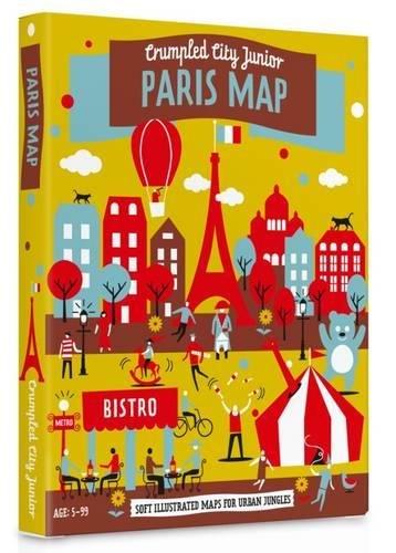 Junior Paris Crumpled City Map -