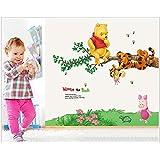Jaamso Royals ' Vigny Bear Swing Tigger Kindergarten Children Room' Wall Sticker (PVC Vinyl, 70 Cm X 50 Cm, Decorative Stickers)