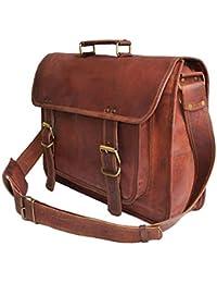 Znt Bags , 15 Inch Genuine Leather Laptop Office Messenger Bag For Men & Women NO - 1123
