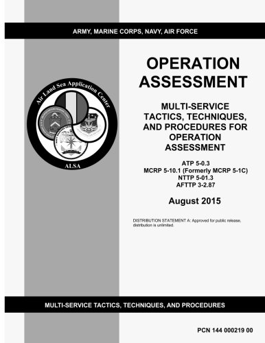 Multi-service Tactics, techniques, and procedures for Operation Assessment ATP 5-0.3 MCRP 5-10.1 (Formerly MCRP 5-1C) NTTP 5-01.3 AFTTP 3-2.87 August 2015
