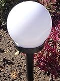 Solar Garten Kugel Leuchte 2 LED kaltweiß