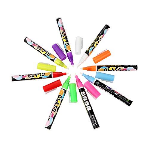 Fanxing Men's Fashion 8Pcs Chalk Markers Chalkboard Erasable Dustless Water Based Liquid Wet Erase Pen 3mm