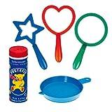 Pustefix- Mini-Mix Juego con 3 Anillos para Hacer pompas de jabón, 70 ml, (869455)