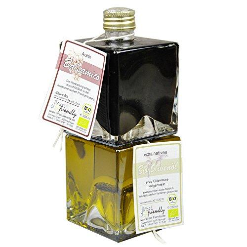 direct&friendly Bio Geschenkset Duett Balsamico und Olivenöl