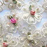 18 Stücke Floral Stickerei Spitze Hochzeit Blume aufbügeln Aufnäher Patches Applikationen zum Aufbügeln Applique Nähen