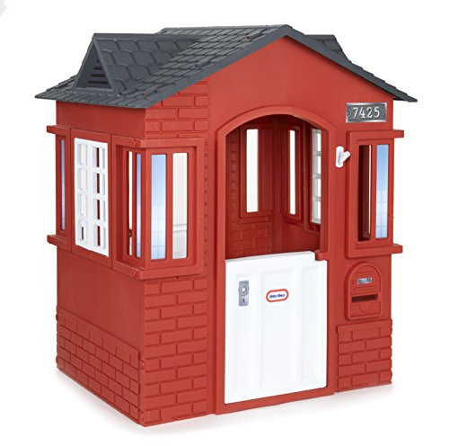 Perfect for younger kids, this playhouse comes with a functional door and windows. Compact dimensions mean this unit is designed for more running in and out of it rather than functioning as a hideout.
