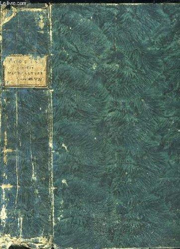 COURS COMPLET D'AGRICULTURE THEORIQUE, PRATIQUE, ECONOMIQUE ET DE MEDECINE RURALE ET VETERINAIRE OU DICTIONNAIRE UNIVERSEL D'AGRICULTURE - TOME VII