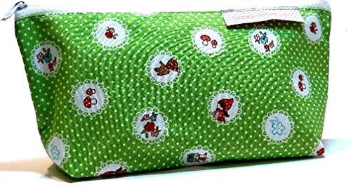 Stiftmäppchen aus Stoff - ROTKÄPPCHEN UND DER BÖSE WOLF - waschbar - auch für Kabel/Kosmetik - Geschenk Weihnachten Geburtstag - Federmäppchen - Mäppchen/Tasche / Etui für Stifte - Kabeltasche