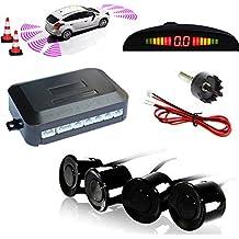 Kabalo Auto Rückfahrsensor - Einparkhilfe mit Farb-Display & eingebauten Pieper inkl. 4 Sensoren in Schwarz