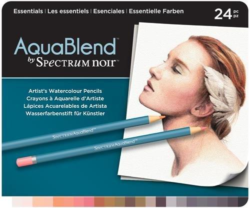 Spectrum Noir - Buntstifte aus der Reihe Aquablend in Essenziellen Farben, Mehrfarbig, Packung mit 24 Stiften