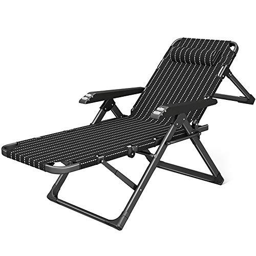 RKY Liegestuhl Recliner Klappstuhl Mittagspause Stuhl Büro Nickerchen Bett einfach zu Hause Sommer kühlen kleinen Stuhl 18 höhenverstellbar, 3 Stile /-/ (Color : A) -