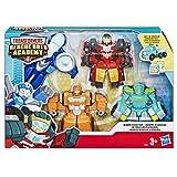 Transformers Rescue Bots - Coffret de 4 Robots Secouristes 12cm - Jouet transformable 2 en 1