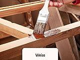Holzfarbe seidenmatt Holzlack BEKATEQ BE-420 Holzschutzfarbe auf Wasserbasis Holzmöbel streichen (5L, Weiss)
