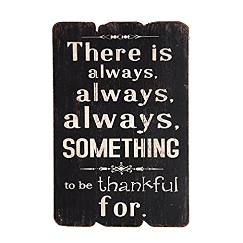 NIKKY HOME There Is Always Always Always Something To Be Thankful for Wooden Wall Decorative Sign 7.87 x 0.63 x 11.87