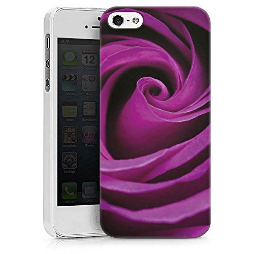 Apple iPhone X Silikon Hülle Case Schutzhülle Lila Rose Blüte Hard Case weiß