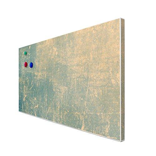 banjado – Pinnwand Magnettafel weiß 78cm x 37cm quer mit Motiv Patina Grün - 3
