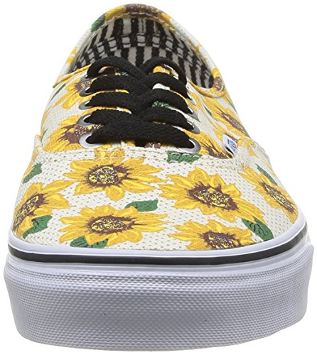Vans U Authentic Sneakers, Unisex Bianco (sunflower)