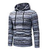 Soupliebe Männer Casual Farbblockstreifen Herbst Winter Pullover Top Bluse Sweatshirt