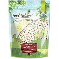 Food to Live Frijoles blancos Bio certificados (Eco, Ecológico, porotos, alubias, no OMG, Kosher, a granel) 1.4 Kg