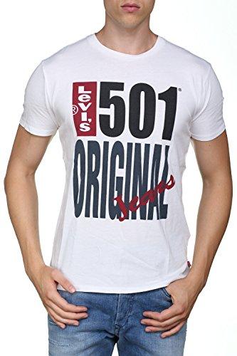 Levi's uomo t-shirt originale 501, bianca, medium
