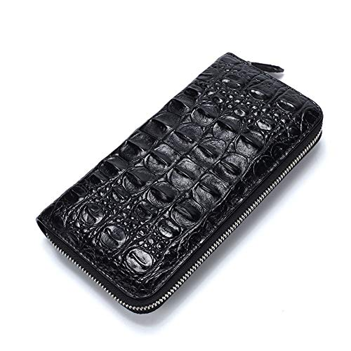 Mode Large Wallet (LOVEMLQL Herren Leder GeldböRse Business Large Capacity Leder Herren Clutch Multi-Karten Long Wallet Herren RFID Blockade, SchlüSselbund GeldböRse, Slot, Kartenetui, MüNzfach)