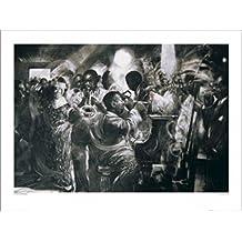 1art1® Músicos - Jazz, Charlie Mackesy Póster Impresión Artística (80 x 60cm)