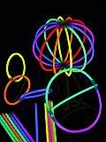 Glow Stick Arm Glow SticksMulti-Coloured 202Pieces by stock&store