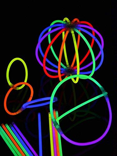 Knicklicht Arm-Knicklichter 100 Stück bunt 202 (Party Neon Dekorationen)