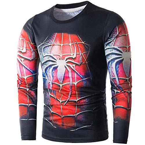 Personnalité De Printemps Et D'éTé Spider-Man Print Casual Hooded Sweater Dt004,comme montré,2XL