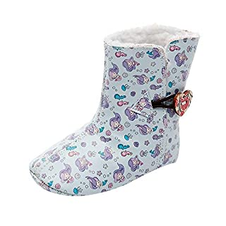 IGEMY Girls Boots Newborn Toddler Baby Girls Floral Print Winter Warm Boots First Walkers Shoes For 0-7 Years Old