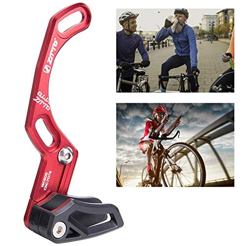 lesgos ISCG 05 Kettenführung, MTB Kettenführung Radfahren Kettenführung für die meisten Fahrrad Rennrad Mountainbike BMX Fixie (7075 CNC RED) -