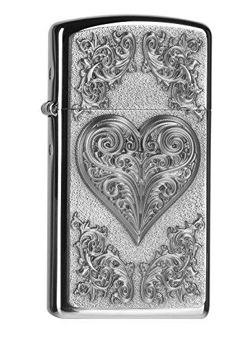 Zippo 2004523Mechero Heart with Ornaments Slim