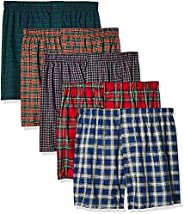 Hanes Men's Tartan Boxers pack of 5 5-pack Tartan Boxer With Inside Exposed Waistband (pack o